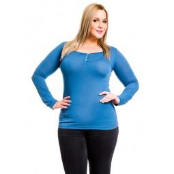 фото Кофта Mondigo XL 8494. Цвет: джинсовый. Размер одежды: 48
