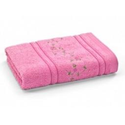 фото Полотенце махровое Любимый дом «Маргаритки». Размер полотенца: 90х50 см. Цвет: розовый, ярко-розовый