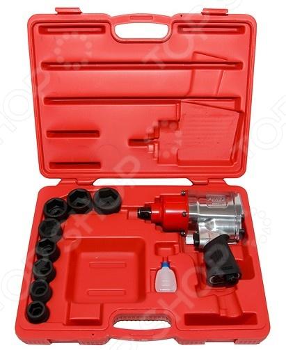Набор инструмента: пневмогайковерт с ударными головками Force F-6111-1 пневмогайковерт abac с 4 головками 750157