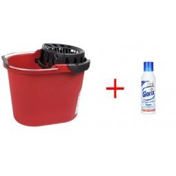 фото Ведро хозяйственное с насадкой для отжима швабры Vileda «Вишмоп» и средство для мытья пола