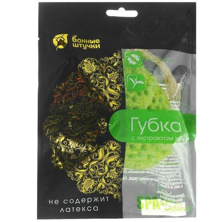 Купить Губка для тела Банные штучки с экстрактом зеленого чая 40185