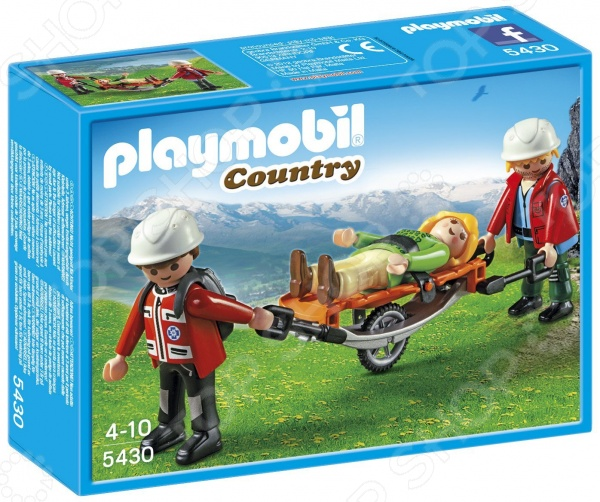 Набор игровой Playmobil «В горах: Спасатель с тросом»Игровые наборы для девочек<br>Набор игровой Playmobil В горах: Спасатель с тросом создан для разнообразных игр. Выбор игрового сценария ограничен только фантазией ребенка, ведь набор включает множество интересных фигурок и аксессуаров. Кроме того, они прекрасно сочетаются с другими элементами из аналогичной серии. Игра с подобными наборами развивает воображение, а еще учит ребенка доброте и заботе. Комплект включает фигурки спасателей и пострадавшего, а также тематические аксессуары.<br>