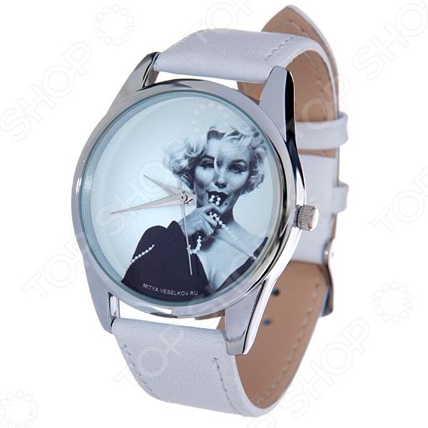 Часы наручные Mitya Veselkov «Монро с бусами» MV.White