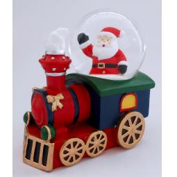 фото Снежный шар декоративный Crystal Deco «Паровозик с Сантой»