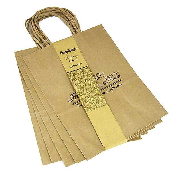 фото Крафт пакет с надписью «Только для тебя»
