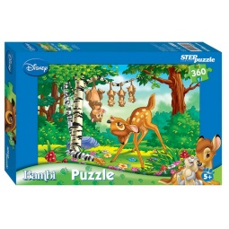 фото Пазл 360 элементов Step Puzzle Бемби (знакомство)