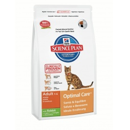 фото Корм сухой для кошек Hill's Science Plan Optimal Care с кроликом. Вес упаковки: 10 кг