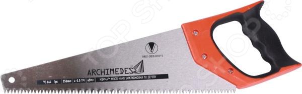 Ножовка по дереву Archimedes JetpikeЛобзики. Ножовки. Пилы<br>Ножовка по дереву Archimedes Jetpike это отличная ножовка по дереву, которая прекрасно подойдет как для небольших изделий, так и для крупногабаритных работ. Зуб закаленный 3-х гранной заточки, уникальной геометрии, что обеспечивает эффективность при движении полотна в обоих направлениях, кроме того, обеспечивает удобство при работе как вдоль, так и поперек волокон. Эргономическая двухкомпонентная ручка поможет вам работать долго и без усталости. Зубья можно затачивать повторно.<br>