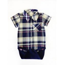 фото Боди-сорочка для новорожденных Ёмаё 24-825. Цвет: синий. Размер: 48. Рост: 74-80 см