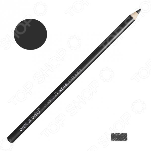 Карандаш для контура глаз Wet n Wild Color Icon Kohl Liner Pencil E601A Baby Has Got Black. Тон: черныйДекоративная косметика<br>Карандаш для контура глаз Wet n Wild Color Icon Kohl Liner Pencil E601A Baby Has Got Black станет отличным дополнением к набору декоративной косметики и прекрасно подойдет для макияжа глаз. Использование кайала позволяет придать взгляду еще большей выразительности и загадочности. Карандаш отличается стойкостью, насыщенностью цвета и хорошей пигментацией. Он легко наносится, хорошо растушевывается и не размазывается.<br>