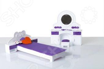 Мебель для куклы Огонек «Спальня» 01537