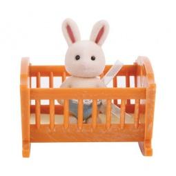 фото Набор игровой для девочки Village Story «Малыш зайчонок с кроваткой»