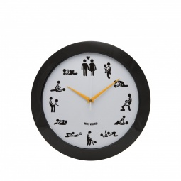 фото Часы настенные Mitya Veselkov «Камасутра». Цвет: белый