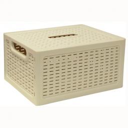 фото Ящик складной с крышкой IDEA. Цвет: белый. Габариты: 280x185x126