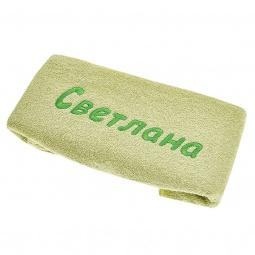 фото Полотенце подарочное с вышивкой TAC Светлана. Цвет: зеленый