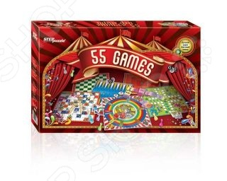 Игра настольная обучающая Step By Step «55 лучших игр мира» step puzzle домино 55 лучших игр мира