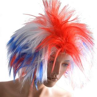 Купить Парик женский Шампания «Российский флаг» прямые волосы