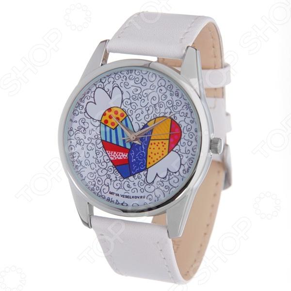 Часы наручные Mitya Veselkov «Крылатое сердце» MV.White часы пляж mitya veselkov часы серебряные