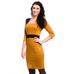 фото Платье Mondigo 5054. Цвет: горчичный. Размер одежды: 46