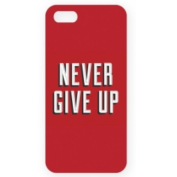 фото Чехол для IPhone 5 Mitya Veselkov Never give up! Цвет фона: красный