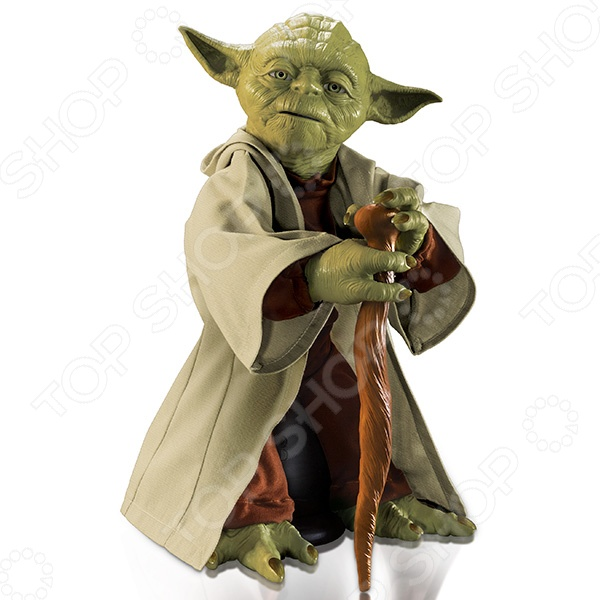 Игрушка интерактивная Spin Master YodaДругие интерактивные игрушки и игры<br>Игрушка интерактивная Spin Master Yoda это фигурка высотой 40 сантиметров, в комплекте с котрой идут несколько аксессуаров: трость и световой меч. При вложении аксессуара в руки Йоды активируется один из режимов: воина или мудрости. При отсутствии аксессуаров активируется режим ожидания или юмора. В последнем игрушка ожидает ваших действий и время от времени произносит шутливые фразы в своём неподражаемом стиле. Режим Мудрости активируется после вложения в руки Йоды трости. Фигурка распознаёт фразы на английском языке, произносит не менее 7 различных реплик и способен отвечать на вопросы: да, нет или возможно. Фигурка передвигается, постукивает тростью и жестикулирует при разговоре. А еще Грандмастер Йода был одним из лучших фехтовальщиков известной галактики. теперь и у вас есть возможность убедиться в этом. Просто вложите световой меч ему в лапы и у игрушки активируется Режим Война. Йода начнёт повторять движения из легендарных битв и комментировать их. Также он может преподать несколько базовых уроков владения световым мечом. Такая игрушка станет идеальным подарком для поклонника вселенной Звёздных войн и точно не оставит его равнодушным!<br>