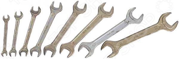 Набор ключей рожковых Stayer «Техно» 27046-H8 набор гаечных рожковых ключей 6 24мм 8шт stayer profi 27037 h8