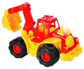 Машинка игрушечная Нордпласт «Трактор Богатырь с ковшом» игрушечная техника и автомобили rastar 43000 1 14 lp700 4 rc roadstar