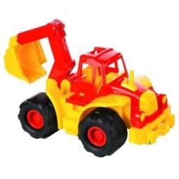 фото Машинка игрушечная Нордпласт «Трактор Богатырь с ковшом»