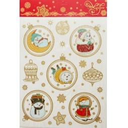 фото Пленка декоративная для окна Феникс-Презент 38616 «Веселые снеговички»