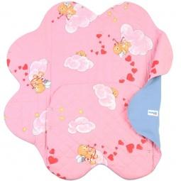 фото Конверт детский с прорезями для ремней безопасности Ramili Baby Light Denim Style. Цвет: розовый