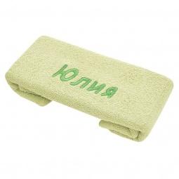 фото Полотенце подарочное с вышивкой TAC Юлия. Цвет: зеленый