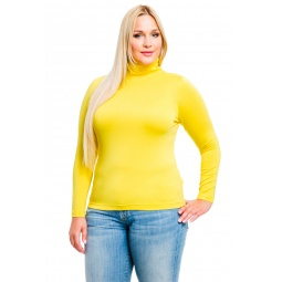фото Водолазка Mondigo XL 046. Цвет: желтый. Размер одежды: 48