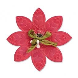 фото Форма для вырубки и форма для эмбоссирования Sizzix Bigz Die Цветок 2 и Textured Impressions