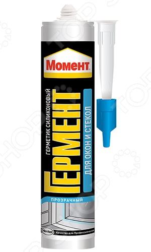 Клей-герметик для окон и стекла Момент. Объем: 280 мл. Цет: прозрачный