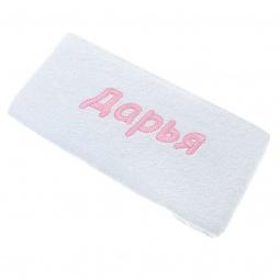 фото Полотенце подарочное с вышивкой TAC Дарья. Цвет: белый