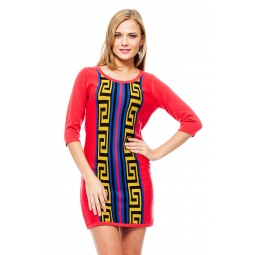 фото Платье Mondigo 9872. Цвет: коралловый. Размер одежды: 46