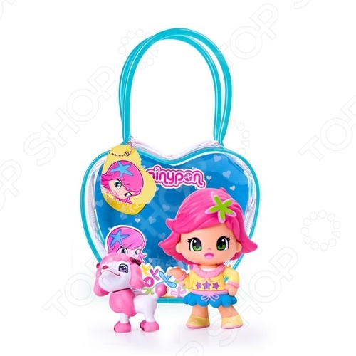 Игровой набор Famosa «Кукла Пинипон с розовыми волосами с собачкой»