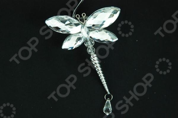 Новогоднее украшение Crystal Deco «Стрекоза» 1707684 новогоднее украшение crystal deco шар перламутровый