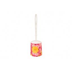 Купить Ёршик для туалета и подставка круглая Violet 1401/97 «Хризантемы»