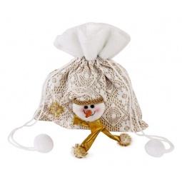 фото Мешок для подарков Новогодняя сказка «Снеговик» 93982