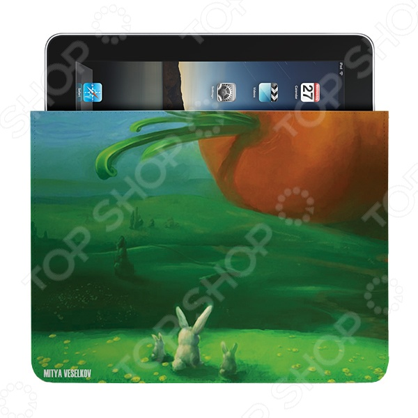 Чехол для iPad Mitya Veselkov «Заяц и морковка» чехлол для ipad iphone mitya veselkov чехол для ipad райский сад ip 08