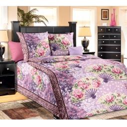 фото Комплект постельного белья Белиссимо «Вееры». 1,5-спальный