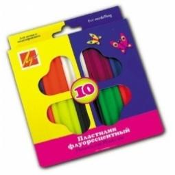 фото Набор пластилина Луч «Флуоресцентный»: 10 цветов