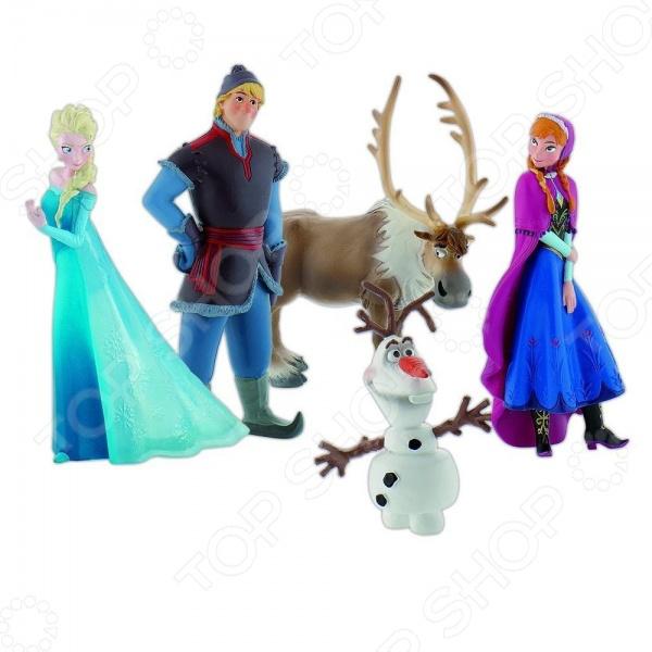 Набор фигурок для девочки Bullyland «Холодное сердце». Количество: 5 предметов игровые фигурки bullyland фигурка принцесса дисней холодное сердце снеговик олаф 4 5 см