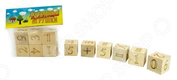 Кубики обучающие Русские деревянные игрушки Цифры и Знаки Д163а станут чудесным подарком для вашего любимого чада. Подобные игрушки способствуют развитию у детей мелкой моторики рук, логики и когнитивного мышления. Кроме того, это еще и прекрасная возможность в игровой форме обучить малыша цифрам и простому арифметическому счету. В игровой набор входят шесть деревянных кубиков. Цифры на кубики нанесены методом лазерной гравировки.