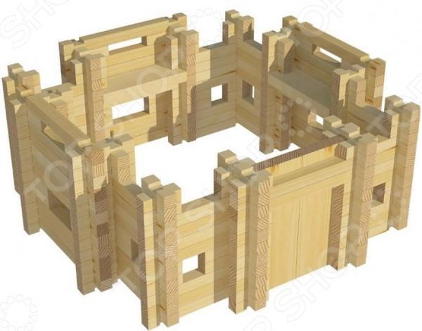 Конструктор деревянный Лесовичок «Крепость №1»Деревянные конструкторы<br>Конструктор деревянный Лесовичок Крепость 1 это отличный конструктор, с помощью которого можно построить миниатюрную модель крепости. В комплекте есть подробная инструкция, которая позволит все делать четко и последовательно. Детали отлично скрепляются между собой, кроме того, они выполнены из дерева и абсолютно безопасны для детского организма. Сборка такого конструктора поможет развить конструкторские и инженерные навыки, развить логическое и пространственное мышление, фантазию и мелкую моторику рук.<br>