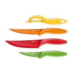 фото Набор ножей с не прилипающим лезвием и овощечистка Tescoma Presto Tone