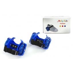 фото Коньки роликовые Moby Kids двухколесные. Цвет: синий
