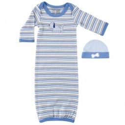 Купить Комплект: ночная сорочка и шапочка Luvable Friends. Цвет: голубой