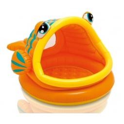 фото Бассейн надувной детский Intex с крышей «Рыбка»